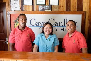 Friendly Staff at Caye Caulker Plaza Hotel