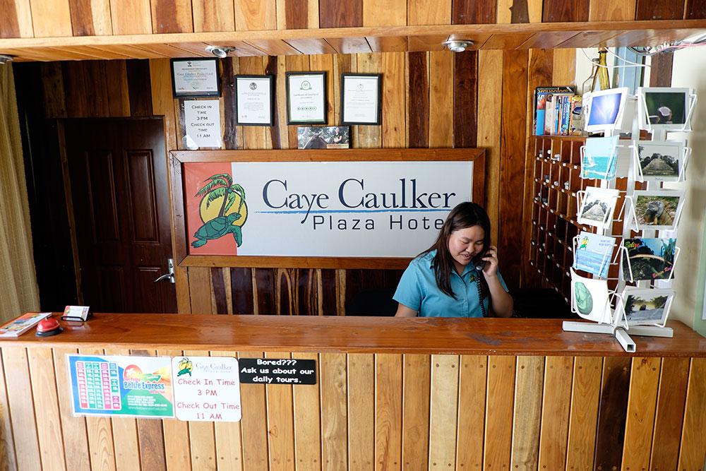 Caye Caulker Hotel Front Desk